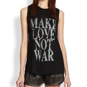 "Tops - ""Make Love Not War"" Haute Hippie Black Tank Top"